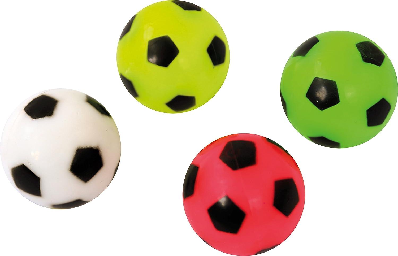 Eduplay 130237 Leuchtflummi Fussball, 4 Stück, Mehrfarbig