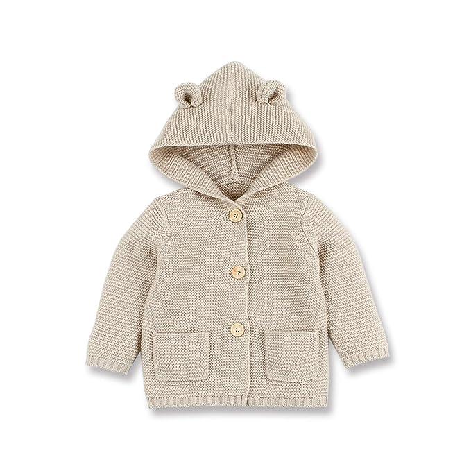 38f95f7fcd88 Amazon.com  mimixiong Baby Sweater Cardigan - Boy Coats Long Sleeve ...