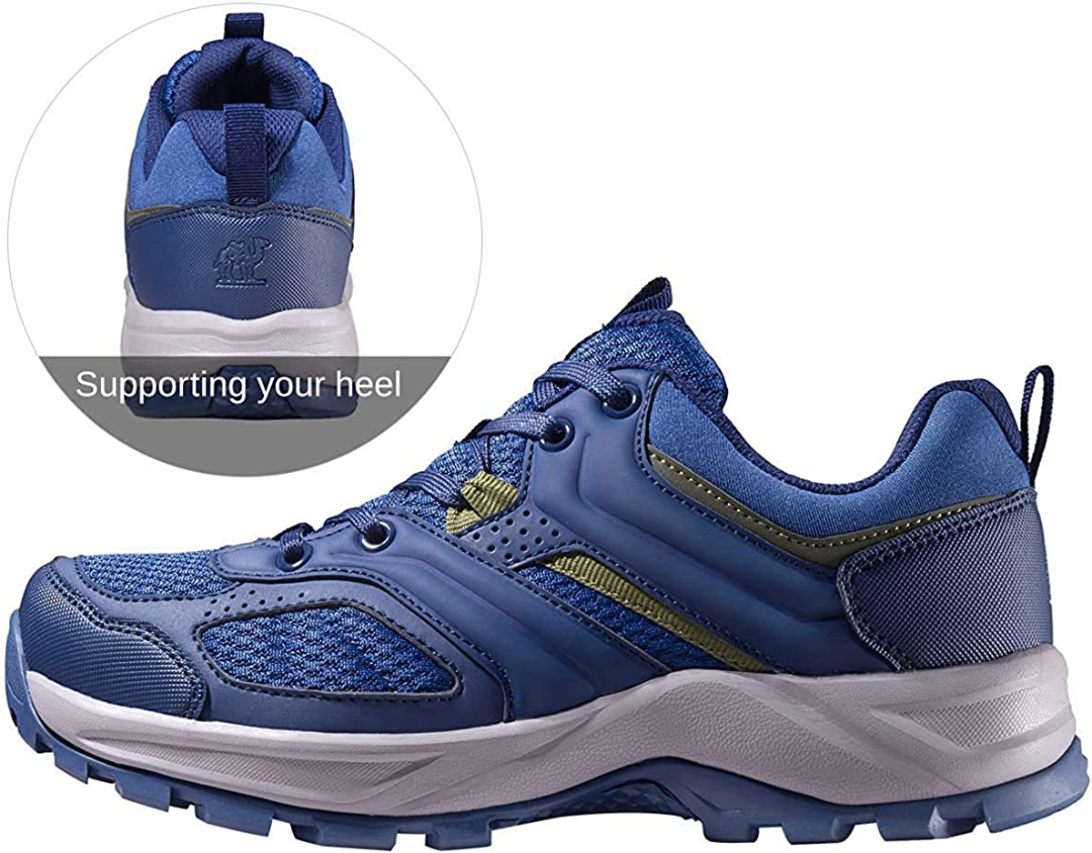 CAMEL CROWN Zapatillas de Senderismo para Hombre Zapatos de Trekking Transpirable Antideslizantes Zapatos de Deporte Caminar Trabajo Trail Running Sneaker Negro Azul Gris 40-47.5: Amazon.es: Zapatos y complementos