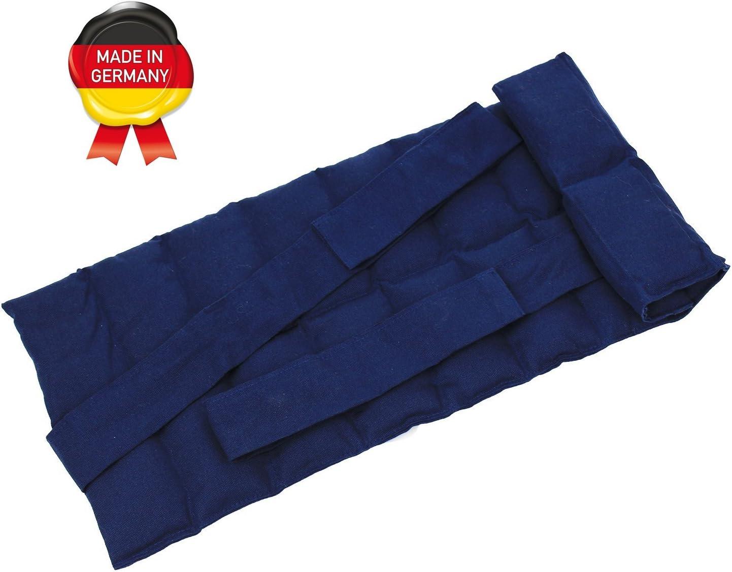 Oreiller Chauffant Remplis de Bl/é bleu Coussin en Grains avec Rubans Coussin Thermique de Diff/érentes Couleurs pour le Chauffage et le Refroidissement au Micro-Ondes au Four et au Cong/élateur