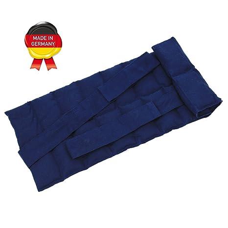 Gro/ßes K/örnerkissen mit B/ändern//W/ärmekissen Gef/üllt mit Weizen//Getreide-Nierenkissen in Verschiedenen Farben zum W/ärmen und K/ühlen f/ür Mikrowelle blau Ofen und Gefriertruhe