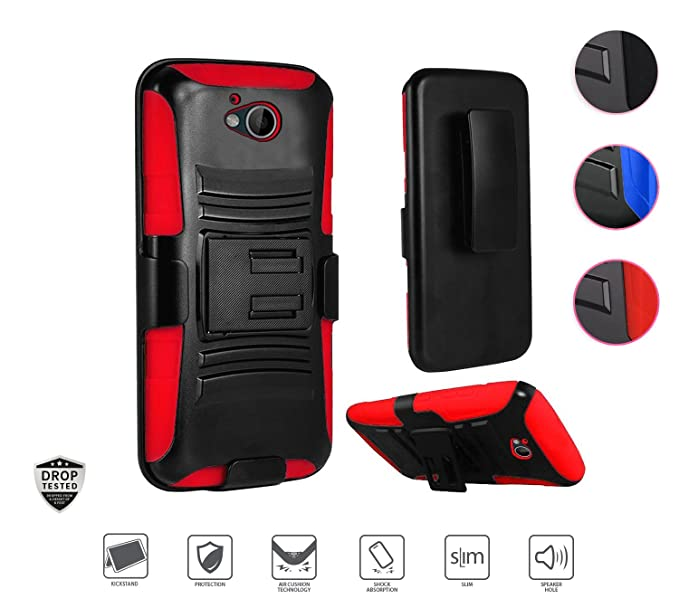 the best attitude ff343 c364f ZTE Majesty Pro Case, ZTE Majesty Pro Plus Case, Hybrid Holster Case with  [Kickstand] Dual Layer Protective Phone Case Cover for ZTE Majesty Pro ...