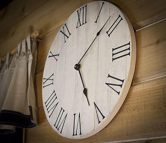 Charmant Farmhouse Clock, Large Farmhouse Style Clock, Rustic Wall Clock, Handmade  Farmhouse Clock,