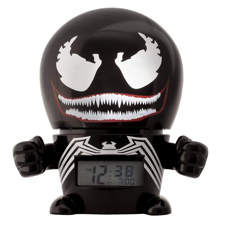 BulbBotz Ré veil veilleuse avec Sons du Personnage pour Enfant Marvel 2021715 Venom | Noir/Rouge | Plastique | 14 cm de Haut | é cran LCD | garç on Fille | Officiel Clictime