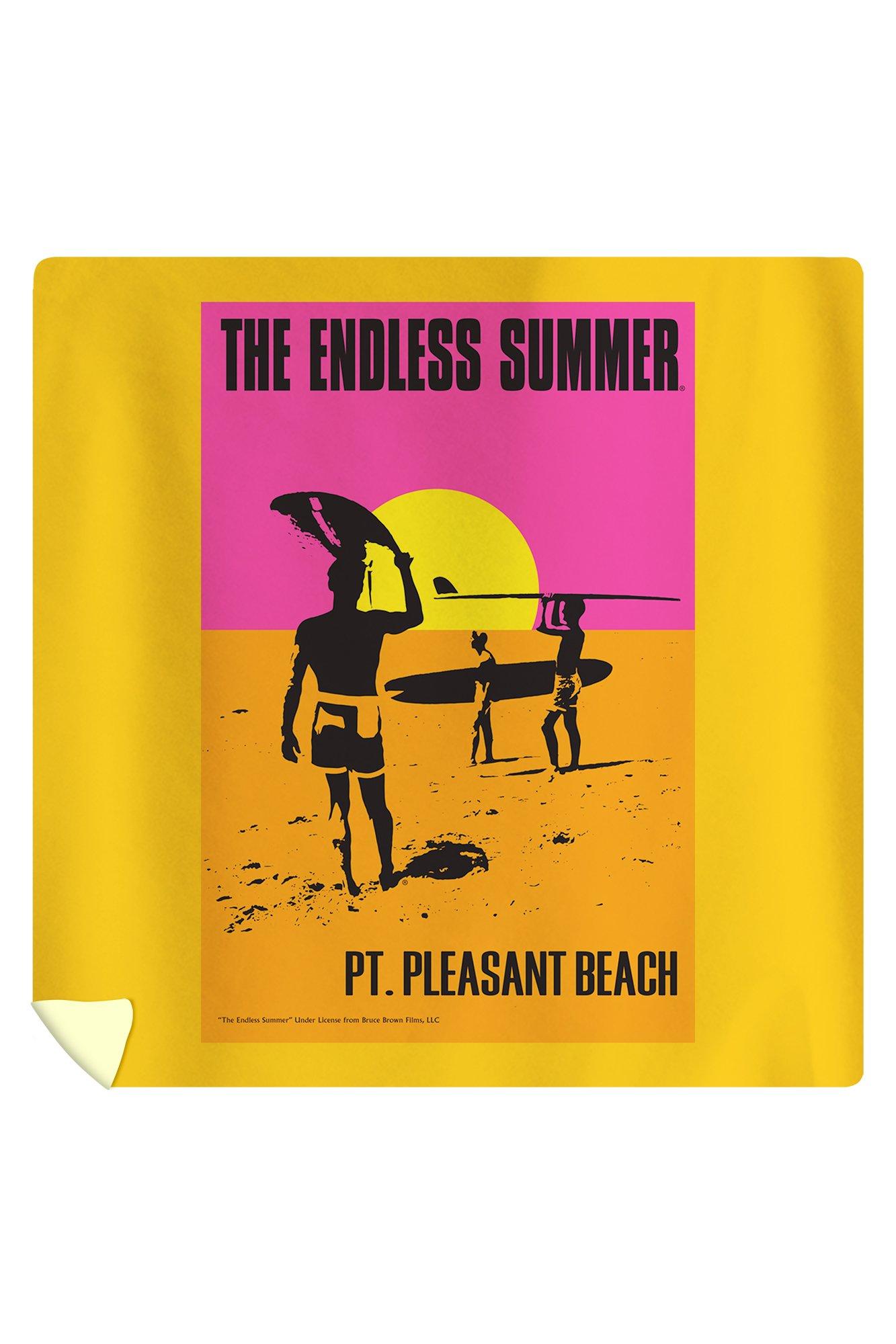Pt. Pleasant Beach, New Jersey - The Endless Summer - Original Movie Poster (88x88 Queen Microfiber Duvet Cover)