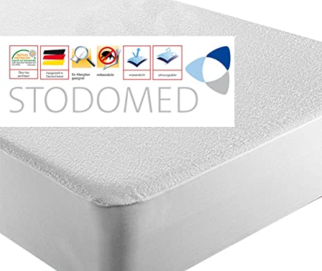 Juego de fundas protectoras impermeables para colchón (2 unidades, para colchones de 90 x