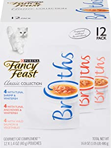 Purina Fancy Feast Broths Adult Wet Cat Food Complement Variety Packs