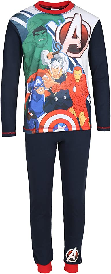 Marvel Avengers Iron Man Hulk Captain America Official Gift Boys Short Pajamas