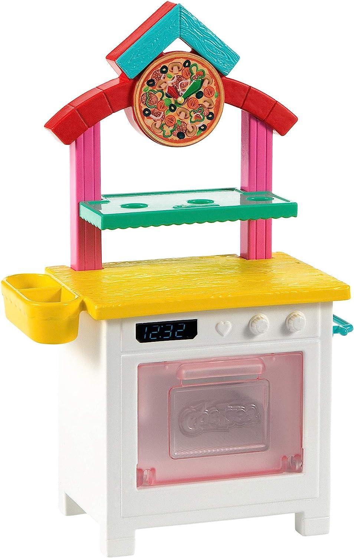 Chelsea-Pizzab/äckerin mit br/ünetter Chelsea-Puppe Pizzaofen Pizzaschale und mehr 2/Gew/ürzdosen Barbie GTN63 ca. 15/cm tolles Geschenk f/ür Kinder ab 3/Jahren
