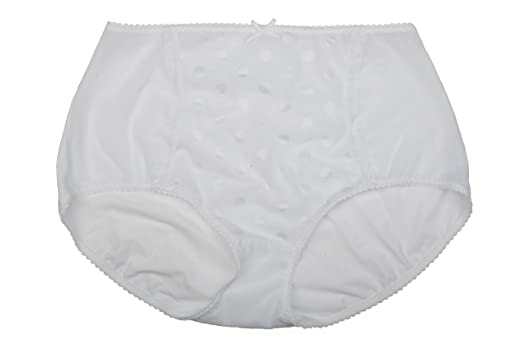 Ex Store Spotty High Rise Full Control Brief White
