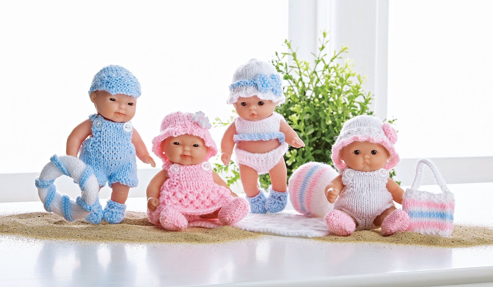 A Day at The Beach Doll Kit - Pink & Blue
