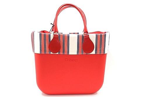 O BAG - Bolso al hombro de goma para mujer Rojo rojo: Amazon.es: Zapatos y complementos