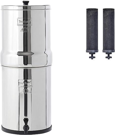 Imperial Berkey Filtro de agua con 2 elementos de purificadores negros sistema de filtrado UK ~ mejor es filtros de agua por gravedad: Amazon.es: Grandes electrodomésticos