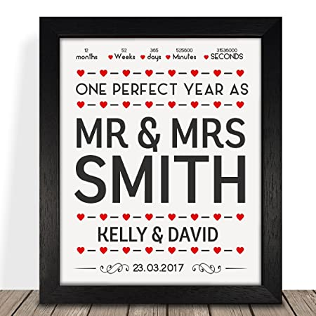 Personalised Presents Gifts For Him Her Husband Wife Couples Boyfriend Girlfriend First Ruby Wedding Anniversary Valentines