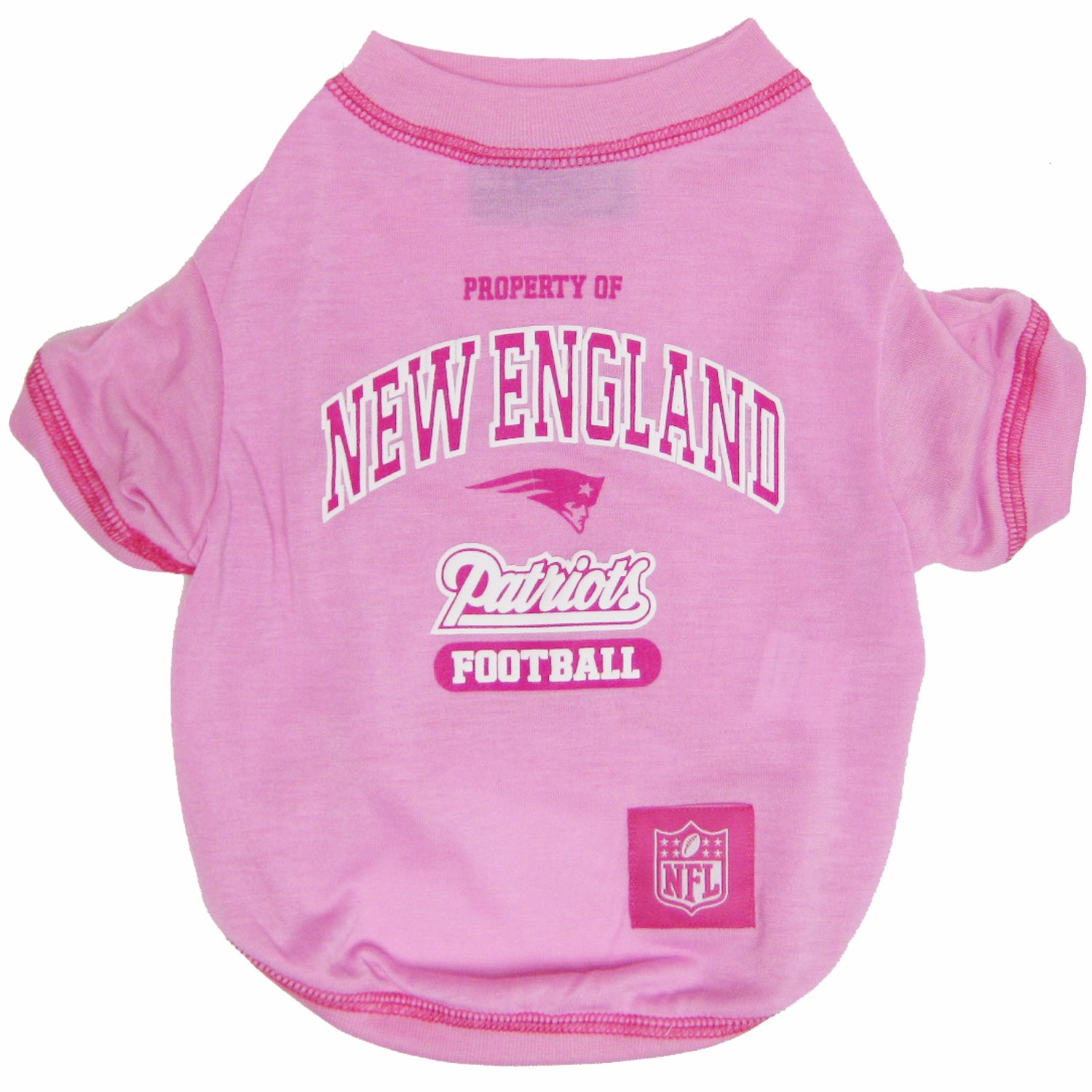 NFL PINK PET APPAREL TOP QUALITY /& Cute pet clothing for all NFL Fans JERSEYS /& T-SHIRTS for DOGS /& CATS available in 32 NFL TEAMS /& 4 sizes Licensed