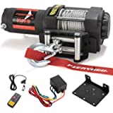 FIERYRED Electric 12V 3500lb Winch, Steel Cable Winch Kits for UTV ATV with Both Wireless Handheld Remote and Corded…