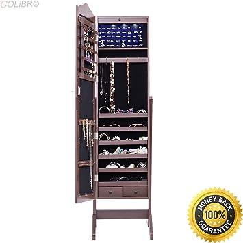 Amazon Com Colibrox Mirrored Jewelry Cabinet Armoire Storage