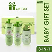 WBM LLC WBM Care Essential Baby & Mommy Gift Set Oil, Lotion & 3 in 1 Baby Shampoo Care & Bath Products to Nourish Skin, 3 Items, Bathtime Solutions
