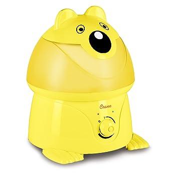amazon com crane adorable ultrasonic cool mist humidifier with 2 1 rh amazon com Water Bottle Humidifier Teardrop-Shaped Humidifier