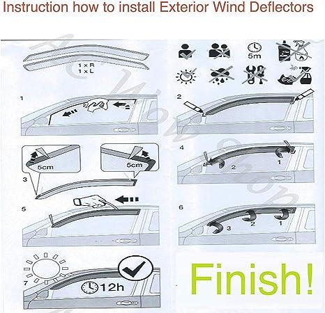 DGA Wind Deflectors for Mercedes C-Classe 43195 2007-2014