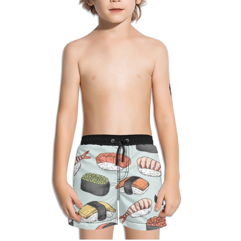 Ouxioaz Boys Swim Trunk Sushi Pattern Drawing Beach Board Shorts