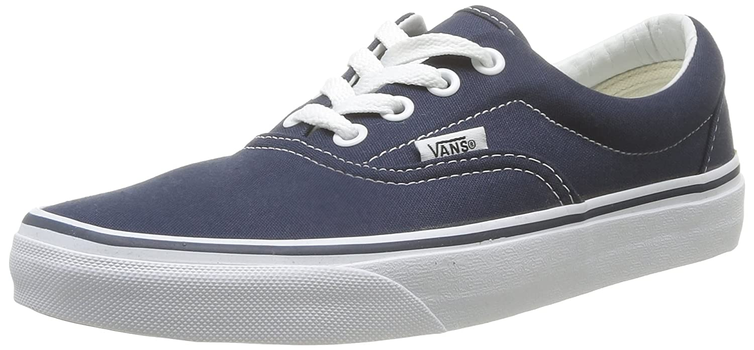 Vans Unisex Era Skate Shoes, Classic Low-Top Lace-up Style in Durable Double-Stitched Canvas and Original Waffle Outsole B001CEU8O6 8.5 B(M) US Women / 7 D(M) US Men|Navy