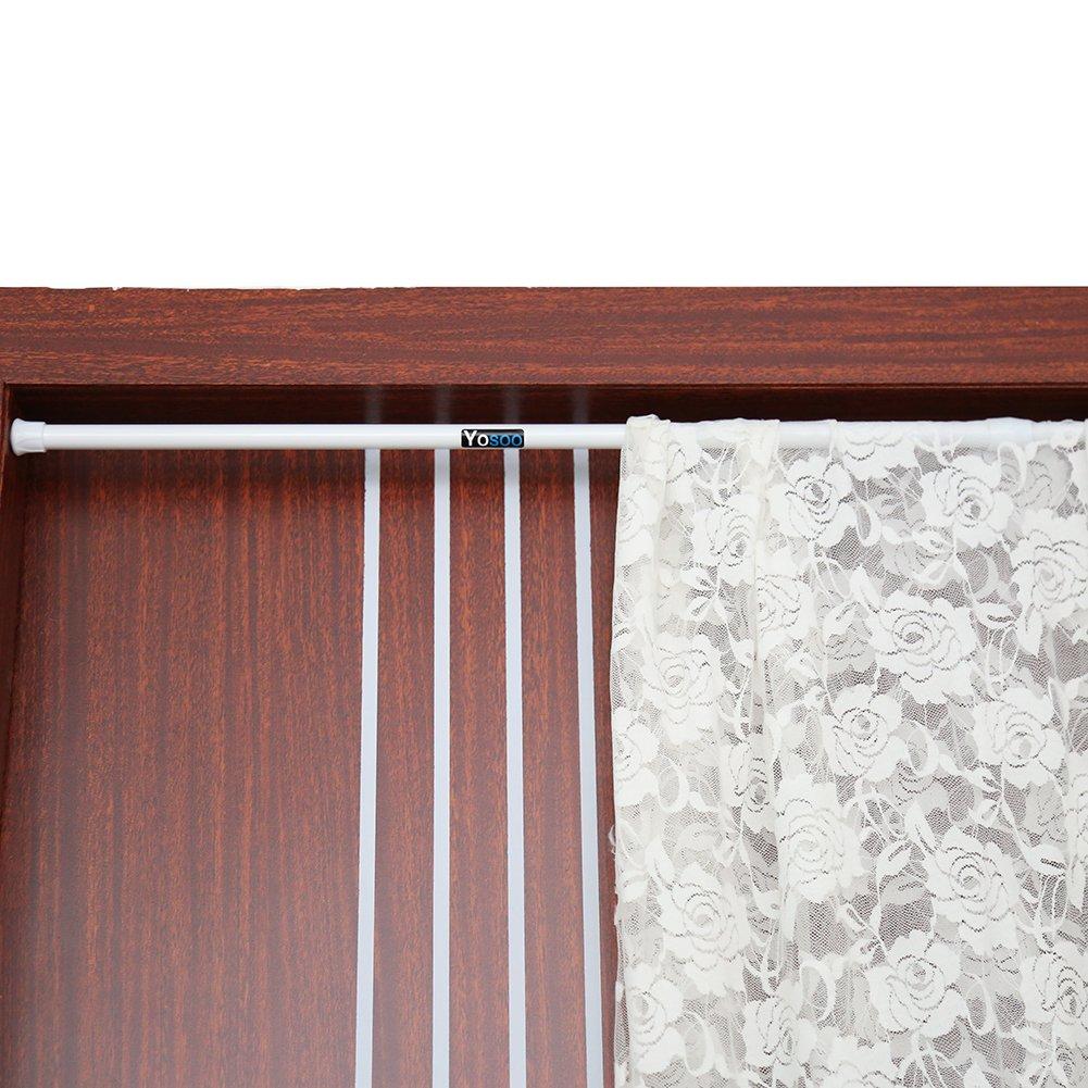 90cm 55cm barra telesc/ópica para barra de cortina de ducha acero inoxidable Barra de cortina de ducha extensible con barra de tensi/ón Zerone