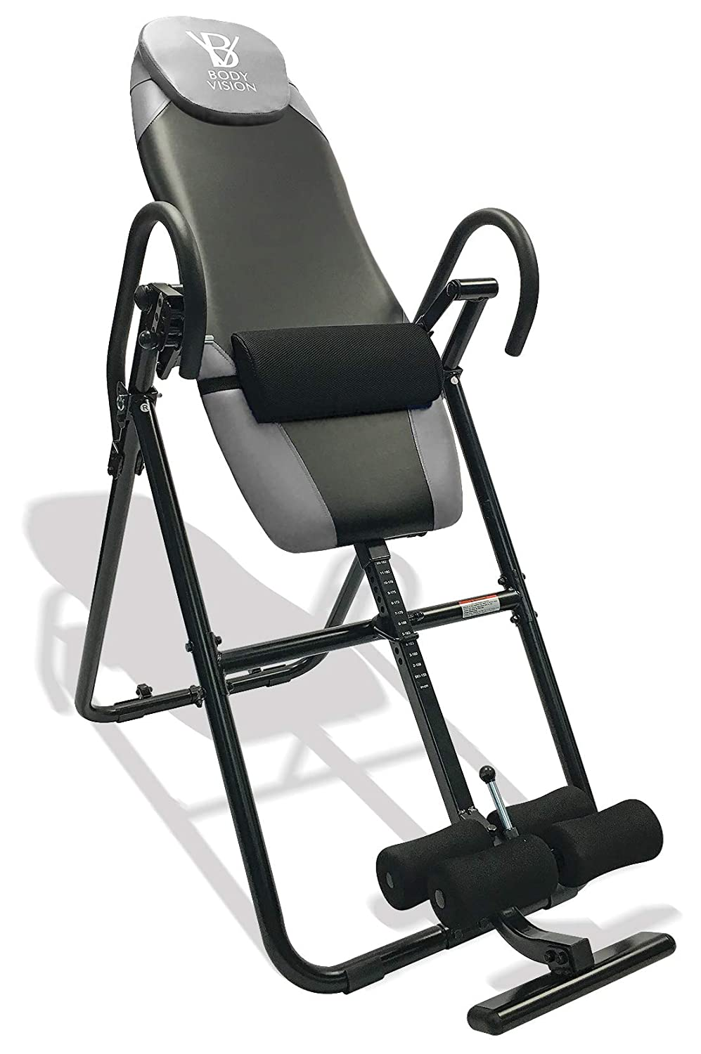 Body Vision IT9825 Premium Inversion Table with Adjustable Head Pillow Lumbar Support Pad- Heavy Duty up to 250 lbs