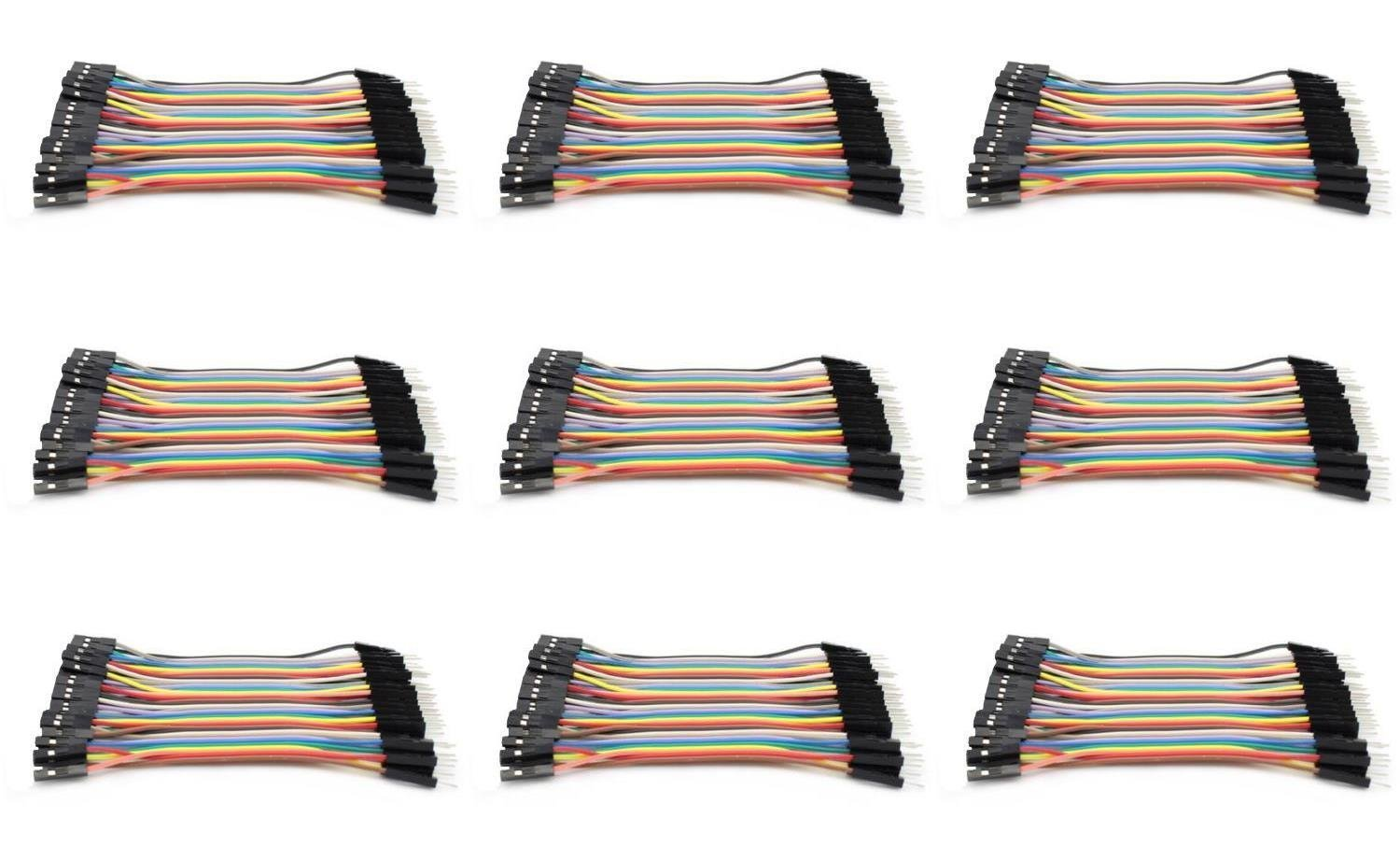 9 x Quantity of Walkera QR X350 PRO Dupont 40 Qty 10cm 2.54mm 1pin Female to Male Jumper Wire Cables - FAST FROM Orlando, Florida USA