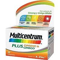 MULTICENTRUM Complemento Alimenticio con 13 Vitaminas, 8 Minerales, Ginseng y Ginkgo…