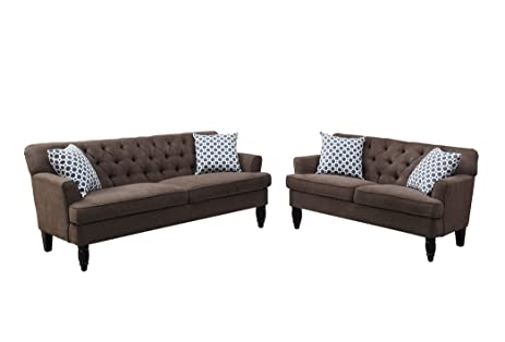 poundex cupboard trim leather white s sofa sectional faux bed brown p furniture ebay