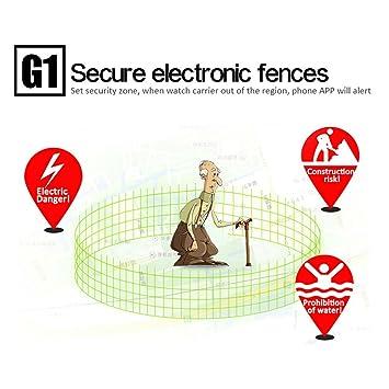Reloj Inteligente ZGPAX SOS GPS Smartwatch S888 Rastreador de Alarma antifallos (Color: Amarillo Anaranjado