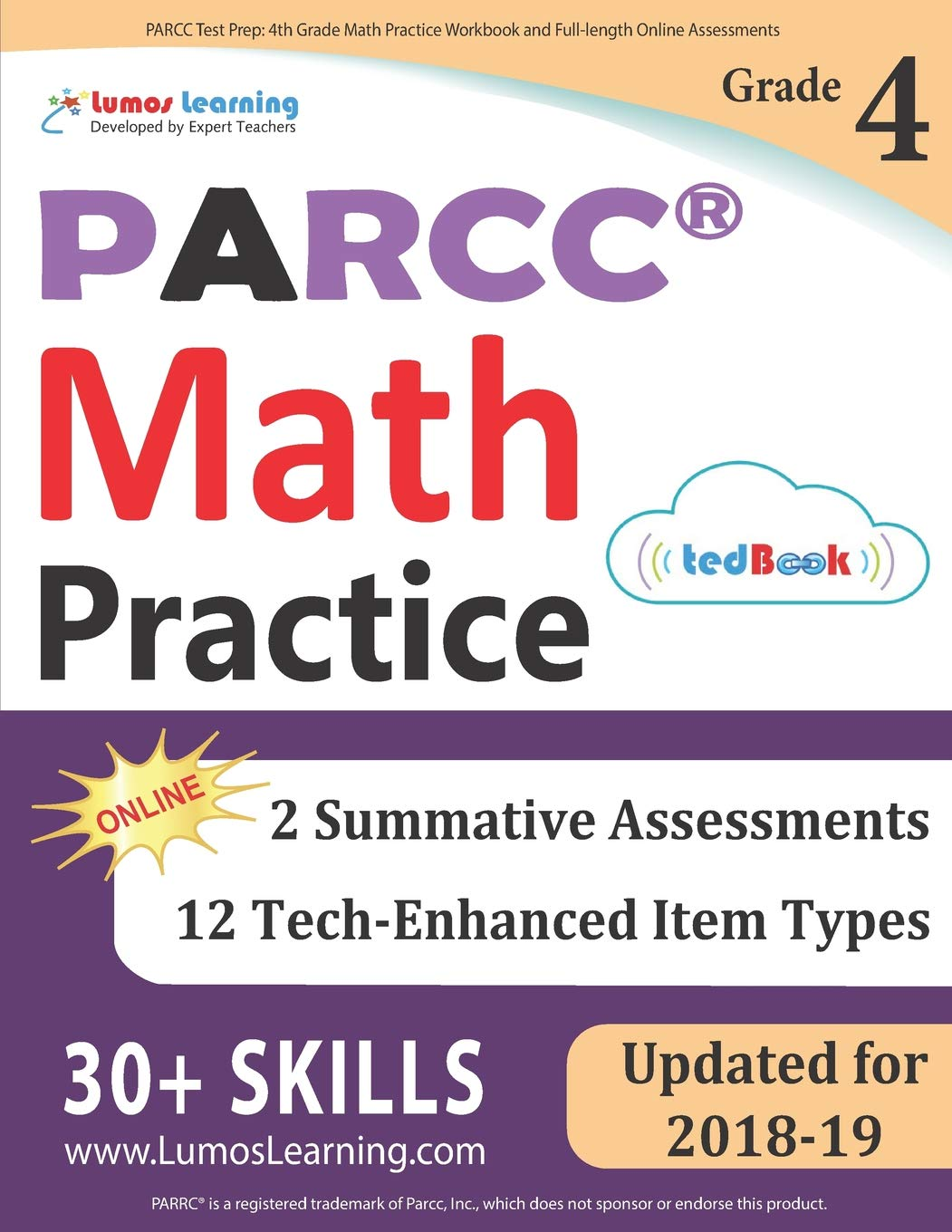 PARCC Test Prep: 4th Grade Math Practice Workbook and Full-length ...