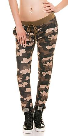 FASHION BOUTIK trendy survetement bas jogging militaire camouflage marron  femme sexy (36 38) a5f106ed8c7
