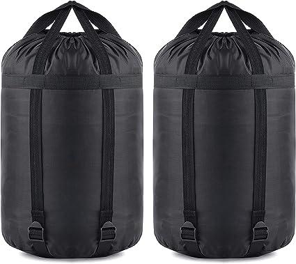 US Waterproof Sleeping Bag Compression Stuff Sack Bag Light Camping Black Bag