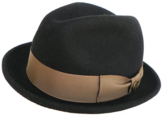 3ae66b62c5aab Goorin Bros Made in USA Blake Cadell Wool Felt Snap Brim Fedora Trilby at  Amazon Men s Clothing store