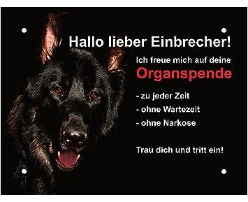 Hundeschild Schaferhund Warnschild Warnung Lustig Achtung 20x15 Cm