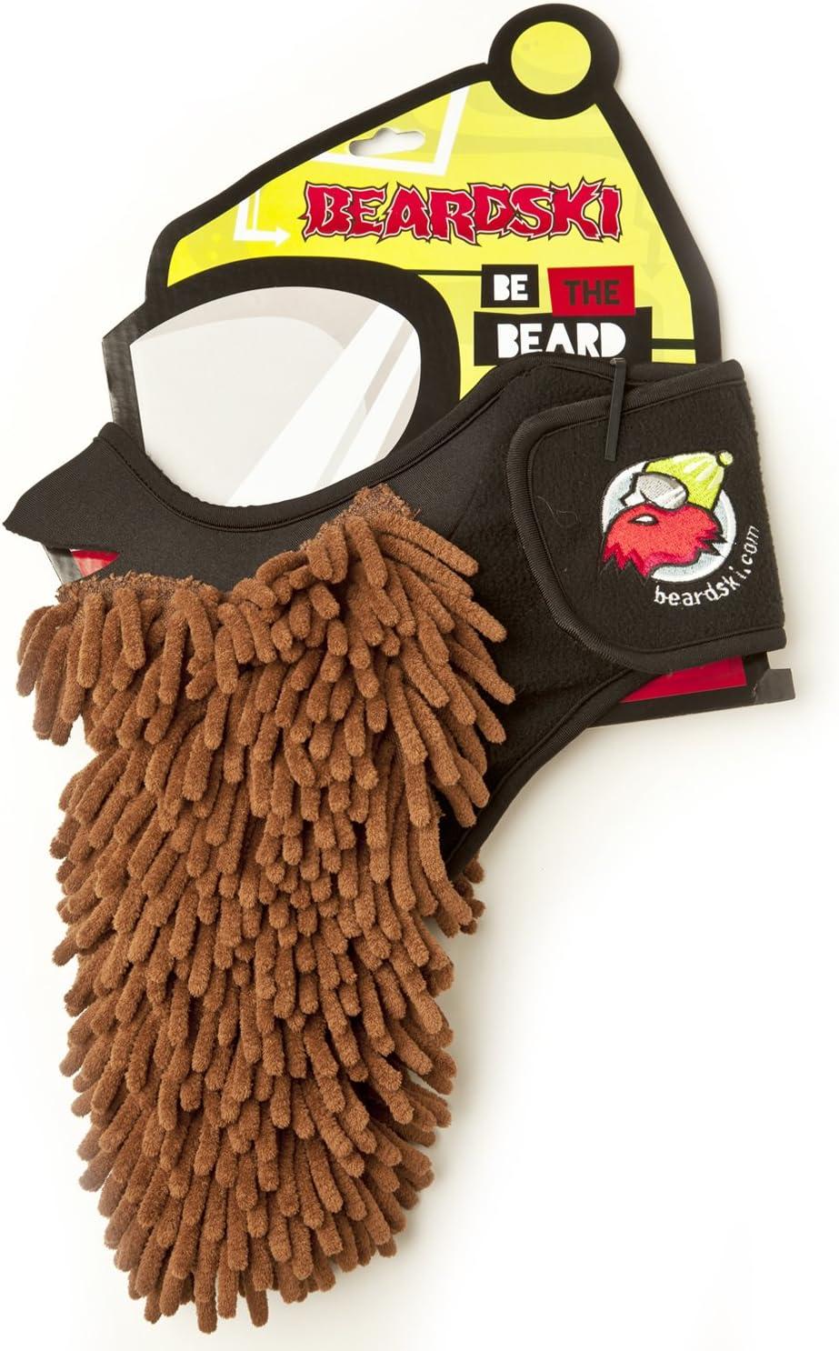 nWear Beardski Mocha Rasta Máscara de esquí, máscara de Snowboard. Protección de la Cara, Barba Falsa, pasamontañas