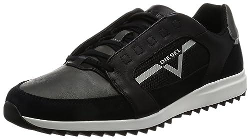 Diesel Y01461, Zapatillas para Hombre, Negro (Black), 42 EU: Amazon.es: Zapatos y complementos