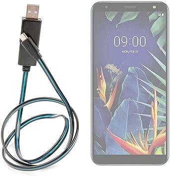 DURAGADGET Cable USB a Micro USB con Flujo de Luces LED de Color ...