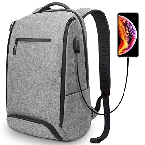 edb7180e90 REYLEO Laptop Backpack Business Travel Computer Bag with USB Charging Port  Shoe Compartment Water Resistant College