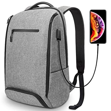 REYLEO Laptop Backpack Business Travel Computer Bag with USB Charging Port Shoe  Compartment Water Resistant College 418315c9e7