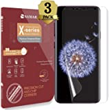 Samsung Galaxy S9 Screen Protector, SAMAR Premium Quality [Case Friendly] Samsung Galaxy S9 {Full Size} Crystal Clear Screen Protectors (3 in Pack) 3D Display, Extremely Invisible and Touch Sensitive