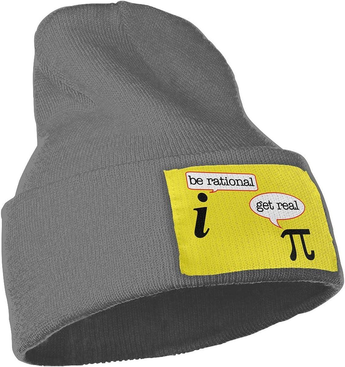Get Real Be Rational Wool Cap Beanies Caps Unisex Winter Deep Heather