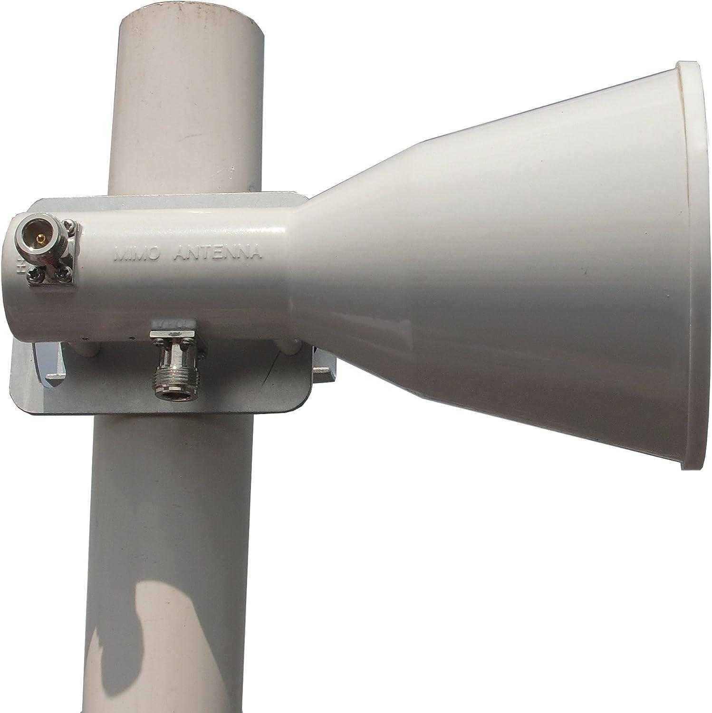 Lanbowan 5Ghz 18dBi Dual POL - Antena para UBIQUITI Rocket M ...