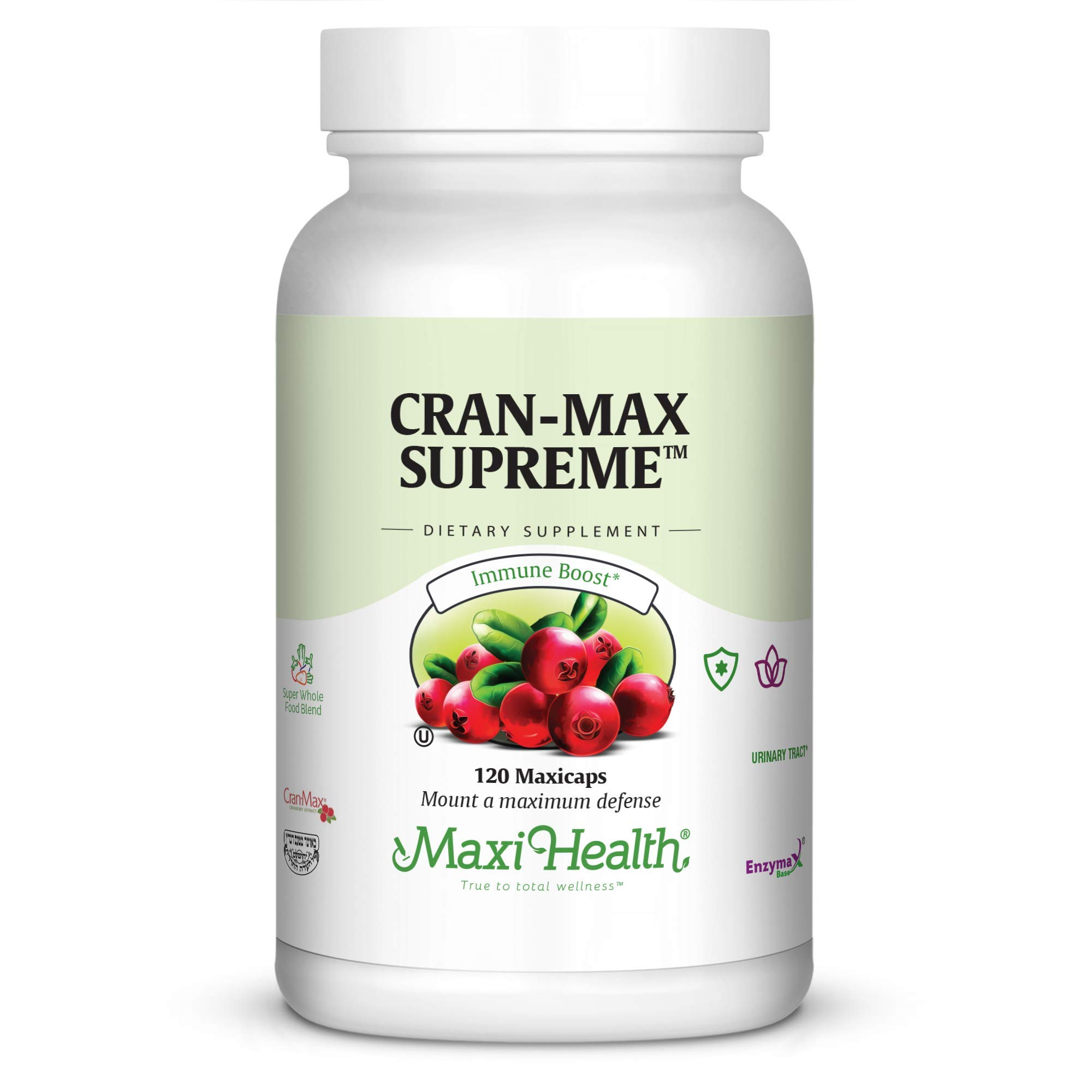 Maxi Health CranMax Supreme Urinary Tract and Immune Boost Capsules, 120 Count