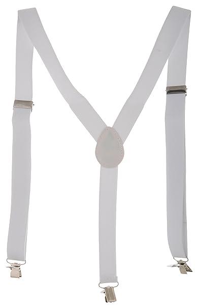Zacharias Men's Cotton Suspender  White, Free Size  Suspenders