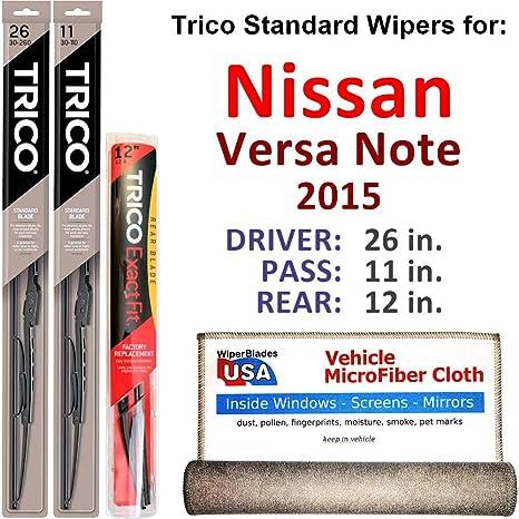 12A Rear Blade 16 Set Includes 26 Mazda 5 Driver Side 2012-2014 3 Blades Total Wiper Blade Kit Passenger Side