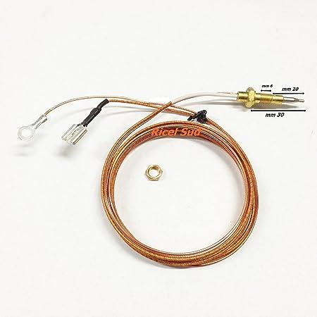 termocupla universal Cocina Horno a gas Casquillo a Faston + Cable ...