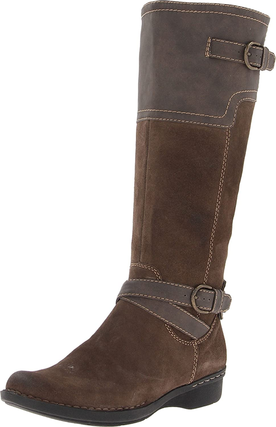 Amazon.com | CLARKS Whistle Woven Womens boot Taupe 11-MEDIUM | Knee-High